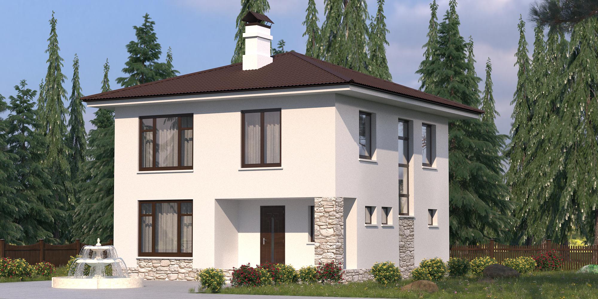 Строительство дома S-125-1P