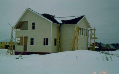 Дом каркасный с гаражом