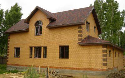 Дом размером 14,84мх12,18м двухэтажный с гаражом