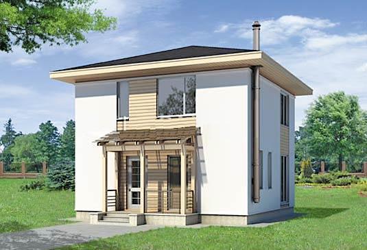 Фасад дома g-105-1p