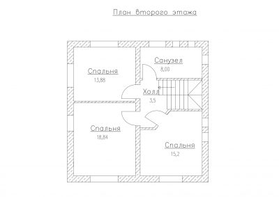 План второго этажа S-125-1P
