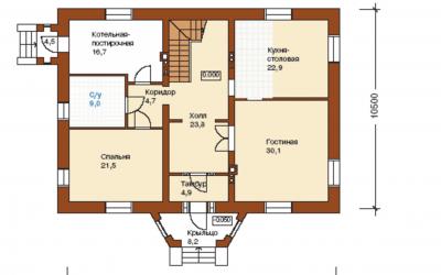 План первого этажа J-259-1P