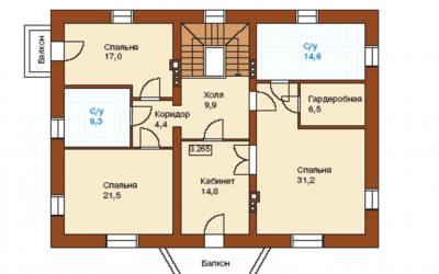 План второгого этажа J-259-1P