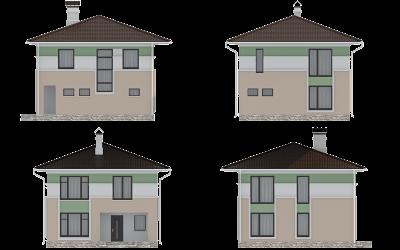 Фасады дома S-170-1P
