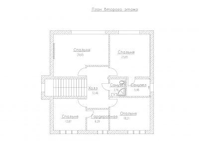 План второго этажа S-244-1P