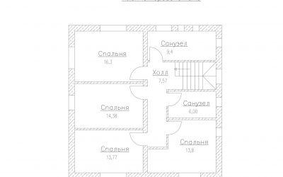 План второго этажа дома S-170-1P