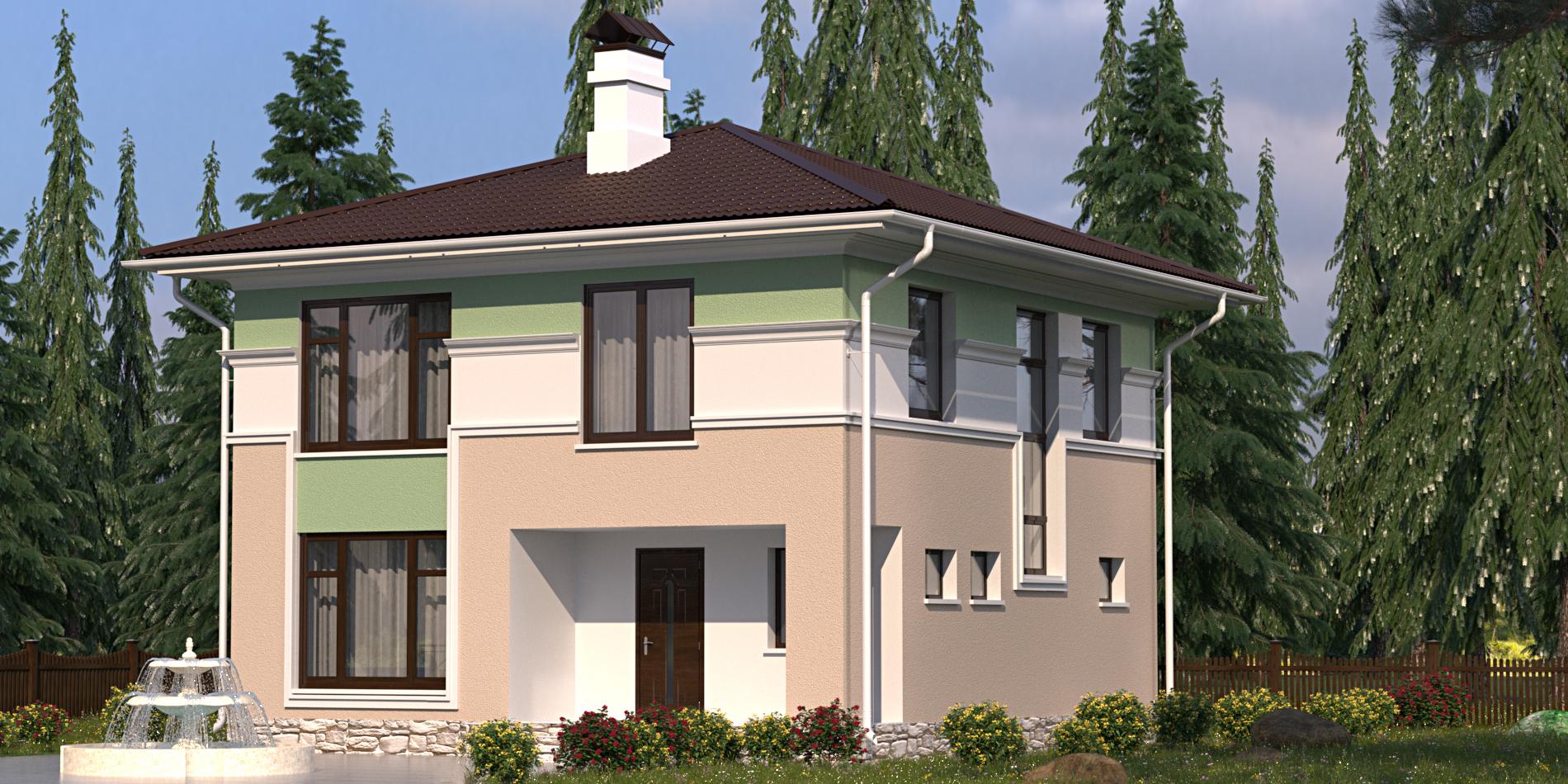 Cтроительство дома S-170-1P