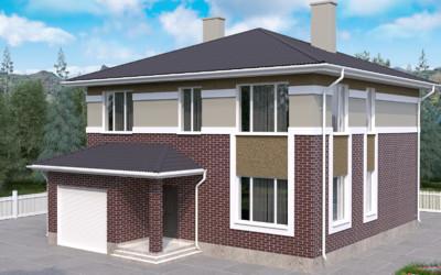 Строительство дома S-244-1P