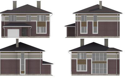 Фасады дома S-244-1P