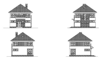 Фасады дома J-110-1P