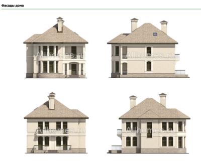 Фасады дома k-190-1k