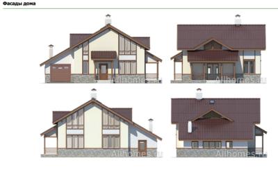 Фасады дома k-204-1p