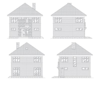 Фасады дома i-121-1k