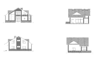 Фасады дома k-232-1p