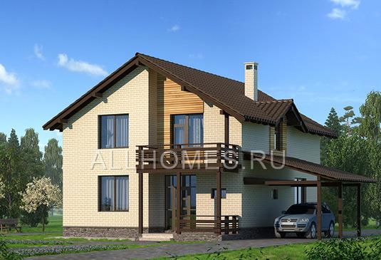 Фасад дома j-208-3p