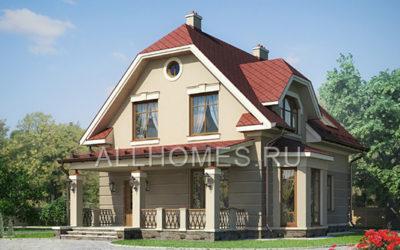 Фасад дома j-140-1p