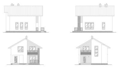 Фасады дома i-135-1p