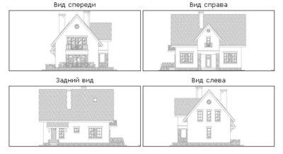 Фасады дома K-155-1P
